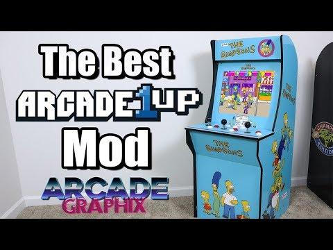 The Best Arcade1Up Mod! Custom Vinyl