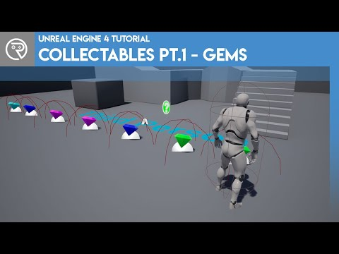 Unreal Engine 4 Tutorial - Collectables Pt.1 - Gems