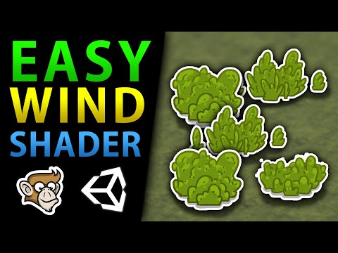 Simple Wind Shader Effect in Unity!