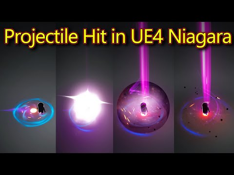 UE4 Niagara Projectile Hit Effect | Subscribe for Next Tutorial | Download Project Files