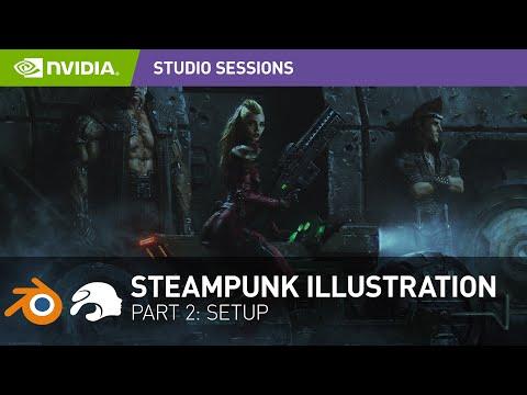 Create a Stunning Steampunk Illustration w/ Andrew Domachowski | Part 2: Setup