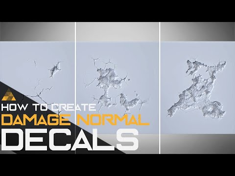 Unreal Engine 4 Decals - How to create Normal Decals Tutorial