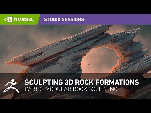Sculpting Stunning 3D Rock Formations w/ Jonas Ronnegard | Part 2: Modular Rock Sculpting