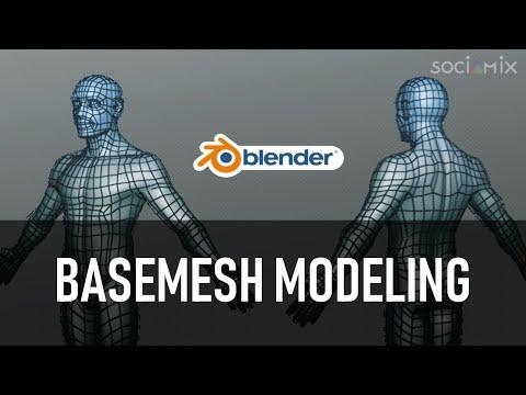 Modeling a character BaseMesh in Blender (Tutorial)
