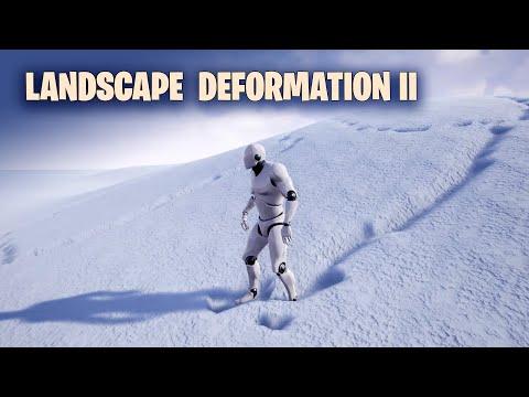 Landscape Deformation in Unreal Engine II - Snow Deformation