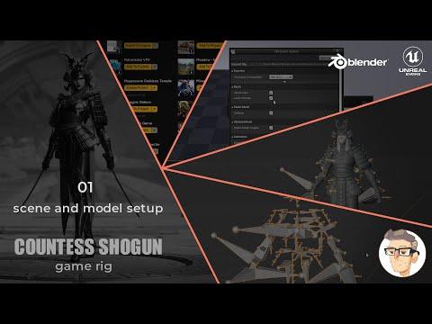 Countess Shogun Rigging - 01 - Scene and Model Setup