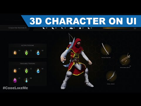 Rendering 3D character on UI - Unreal Open World #420