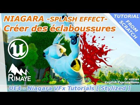 NIAGARA : Effet de splash stylisé [Create a simple and stylized splash effect] - UE4 tutorials