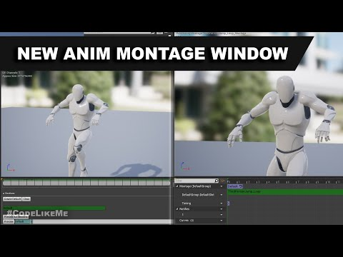 Unreal New Animation Montage Window
