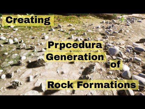 Creating procedural generation of rocks in unreal engine