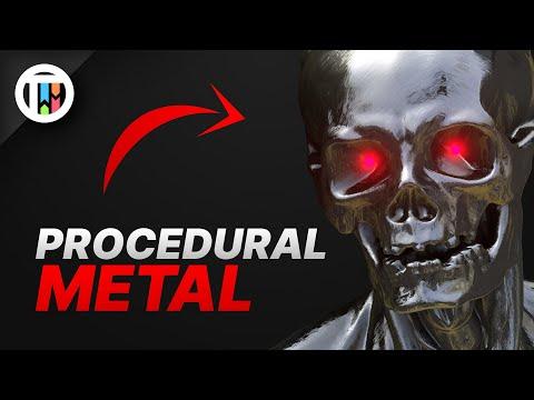 PROCEDURAL SCRATCHY METAL MATERIAL IN BLENDER 2.9 EEVEE - TUTORIAL