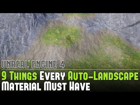 UE4: 9 Things Every Auto-Landscape Material Must Have Tutorial