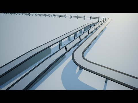 How to Create Bridge using spline and spline mesh - Unreal Engine 4