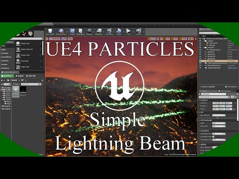 DPTV UE4 Particles Tutorial 8 (Simple Lightning Beam)
