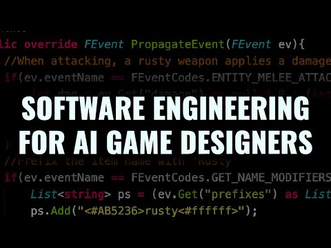 Software Engineering for Automated Game Design - IEEE CoG 2020 Talk