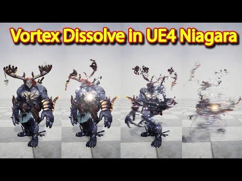 Vortex Dissolve Effect | UE4 Niagara Vortex Dissolve | Download Project Files