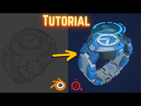 Creating Overwatch-style 3D Models with Blender & Substance