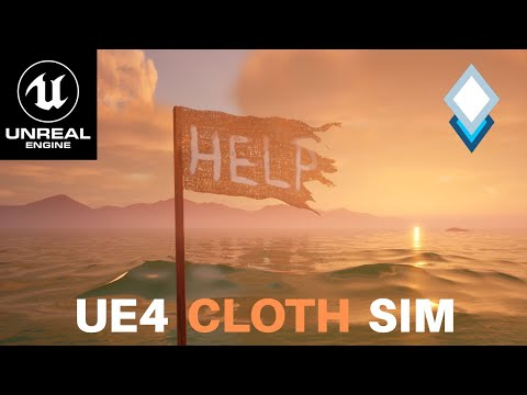 UE4.26 Simulate a Cloth Flag