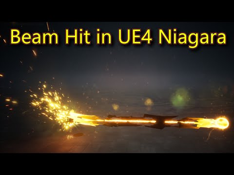 Beam Hit Effect | Unreal Engine Niagara Tutorials | UE4 Niagara Beam