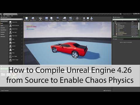 How to Compile Unreal Engine 4.26 from Source to Enable Chaos Physics - Unreal Engine 4 Tutorial