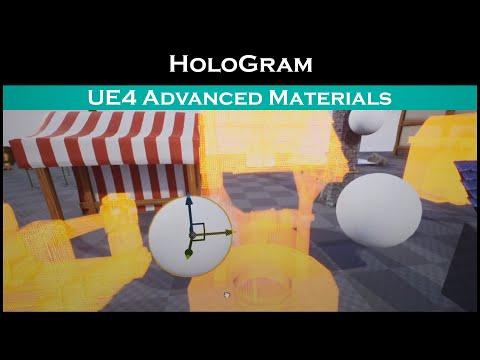 Ue4: advanced materials (Ep. 51 Custom Hologram)