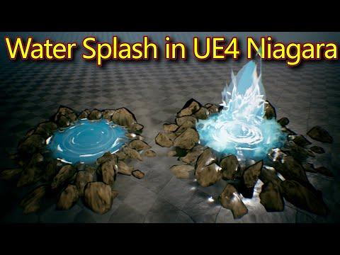 Water Splash | Unreal Engine Niagara Tutorials | UE4 Niagara Water Splash