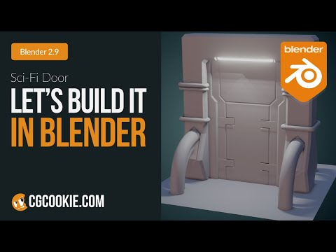 Sci-Fi Door | Let's Build It In Blender