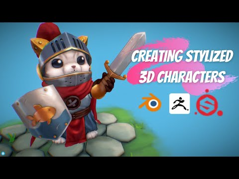 How to Create Stylized 3D Character Models in @Blender , @Pixologic ZBrush & @Substance by Adobe
