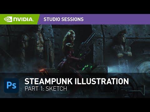 Create a Stunning Steampunk Illustration w/ Andrew Domachowski | Part 1: Sketch