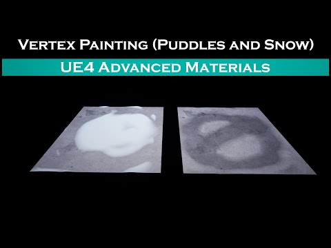 Ue4: advanced materials (Ep. 21.5 Painting Puddles/snow) FIX!!!