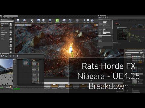 """Rats Horde"" Niagara Breakdown - UE 4.25"
