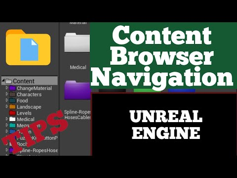 How to navigate through content folder in UE4 for beginners