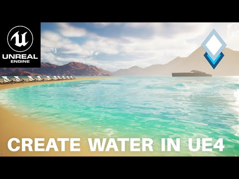 UE4.26 Water System Tutorial - How To Create Oceans, Lakes and Rivers