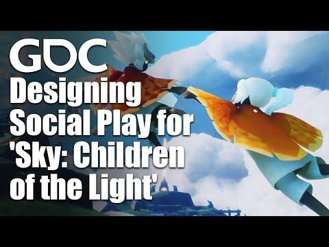 Designing Social Play for Sky: Children of the Light
