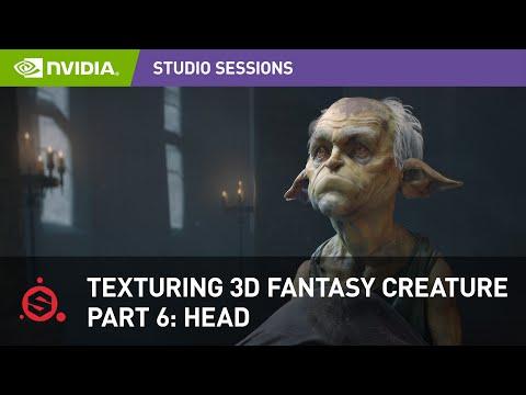 Texturing a 3D Fantasy Creature w/ Maria Panfilova - Adobe Substance Painter | Part 6: Head