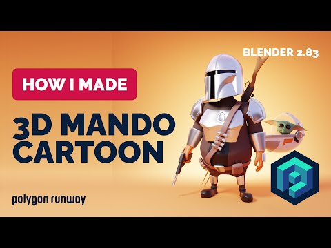 Mandalorian and Baby Yoda in Blender - 3D Modeling Process