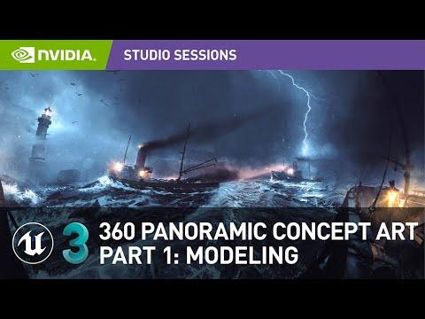 Create Impressive 360 Panoramic Concept Art w/ Vladimir Somov   Part 1: Modeling