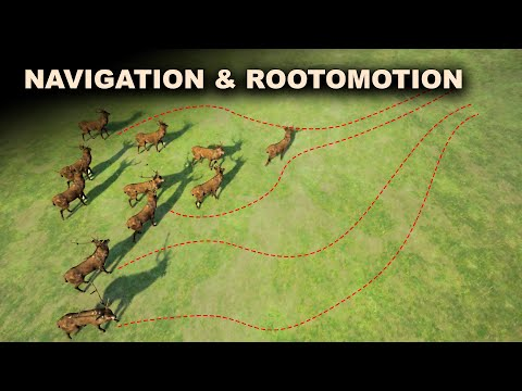 Using Rootmotion based Locomotion with AI Navigation