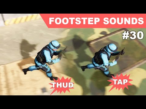 Unreal Footstep Sounds on different physical materials I - UE4 TPS #30