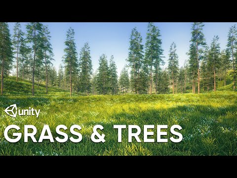 Quickly Scatter Grass and Trees on Terrain in Unity