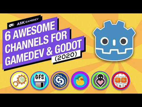 6 Channels for Learning Gamedev & Godot on YouTube! [2020]