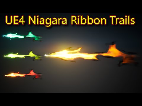 Ribbon Trails | UE4 Niagara Ribbon Trails | Download Project Files
