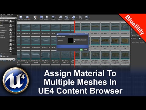 Assign a material to multiple meshes in the UE4 content browser | Editor Utility Blueprint
