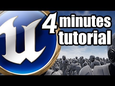UE 4 Minutes TUTORIAL Static Mesh Instance spawn along the grid