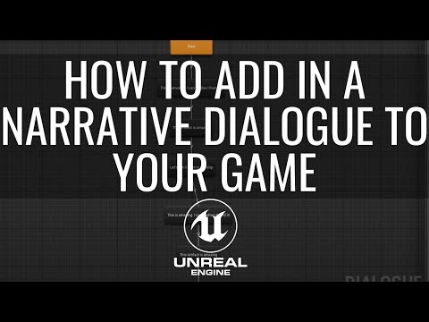 How To Add In Constant Narrative Dialogue To Your Unreal Game Part 1