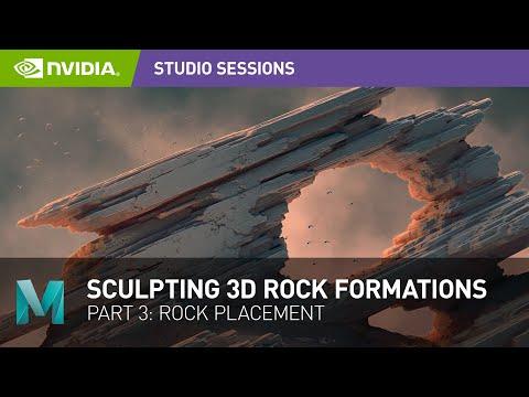 Sculpting Stunning 3D Rock Formations w/ Jonas Ronnegard | Part 3: Rock Placement