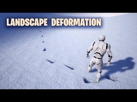 Landscape Deformation in Unreal Engine