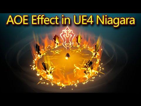 AOE Effect | Unreal Engine Niagara Tutorial | UE4 Niagara AOE Effect | Download Project Files
