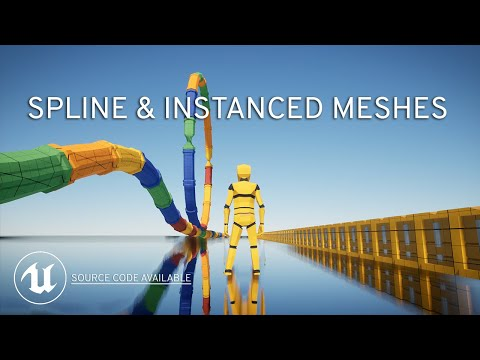 Spline Mesh Components and Instanced Meshes for Faster Level Design in UE4 Blueprints