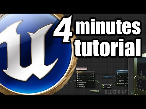 UE 4 Minutes TUTORIAL Open Close Door Animation with Blueprint and Trigger Box